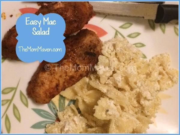 Easy Recipes-Mac Salad-TheMomMaven.com