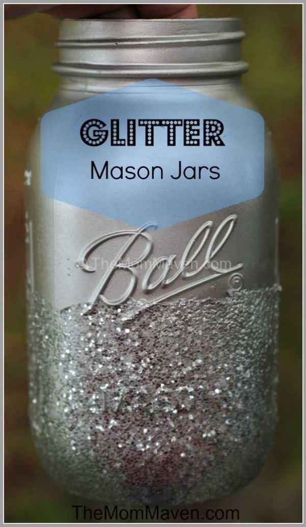 Glitter Mason Jar-wedding Wednesday-TheMomMaven.com