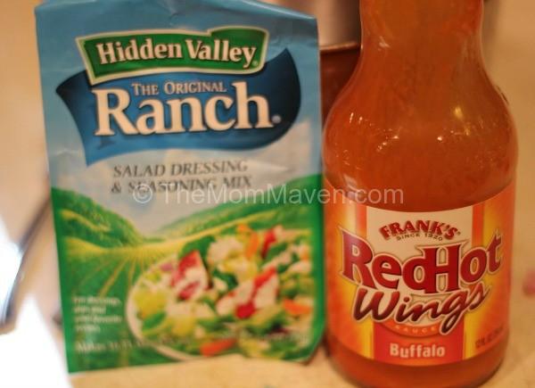 Main Ingredients-Croclpot Shredded Buffalo Chicken Sandwiches-TheMomMaven.com