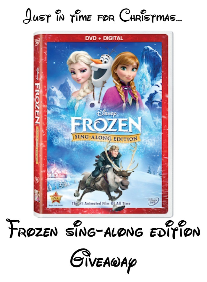 frozen sing-along edition DVD giveaway
