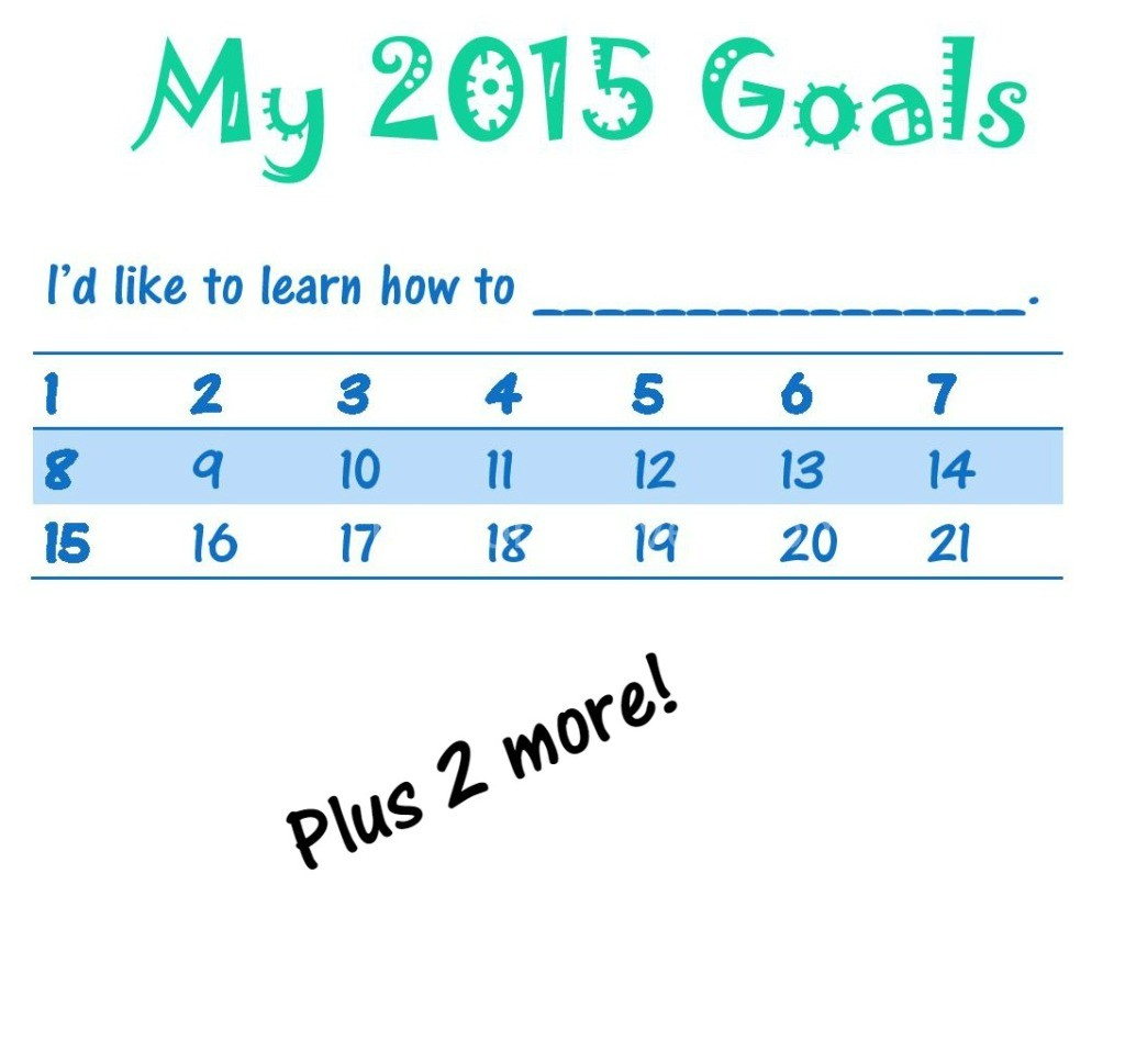 New Year S Resolutions For Kids Free Printable