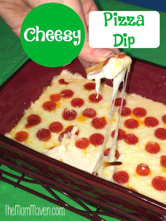 Cheesy Pizza Dip recipe is perfect for Super Bowl Sunday or any party setting.