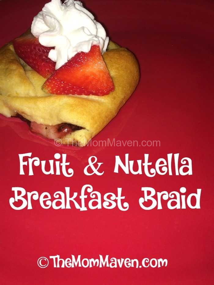 Fruit and Nutella Breakfast Braid-Perfect for Valentine's Day