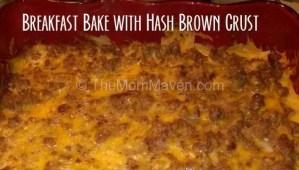 Breakfast Bake with Hash Brown Crust