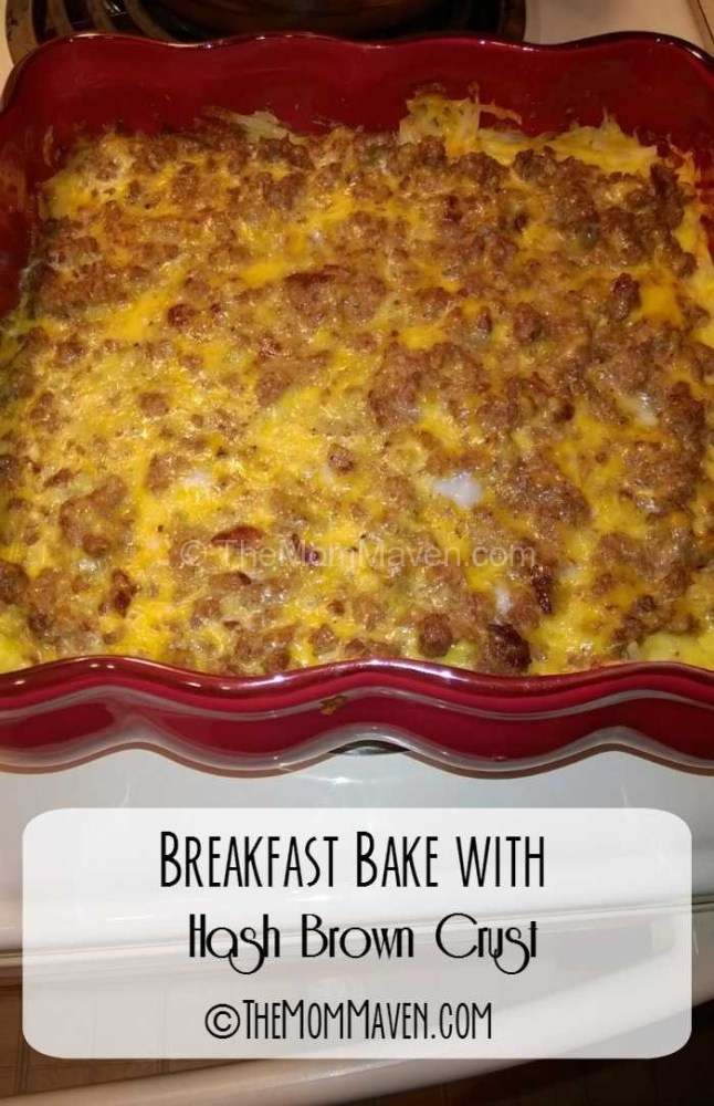 For a hearty breakfast make this breakfast bake with hash brown crust