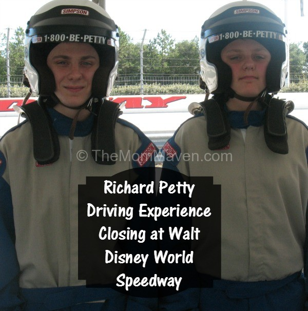 Richard Petty Driving Experience closing at Walt Disney World