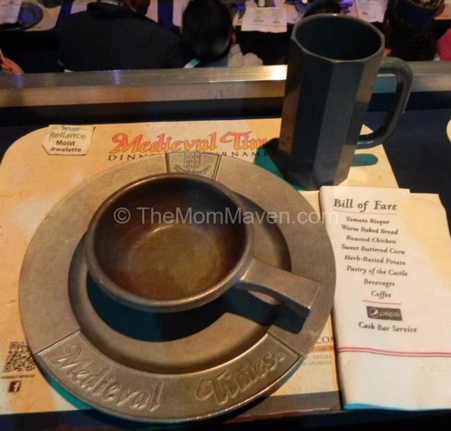 Medieval Times Place setting