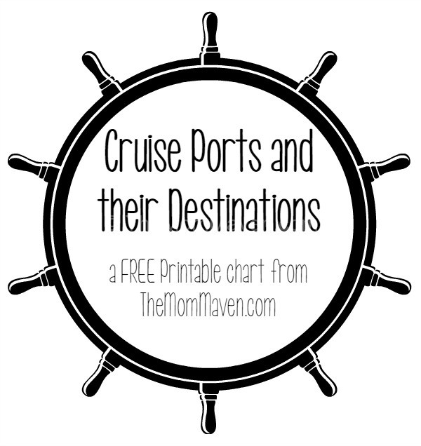 Cruise ports and their destinations printable