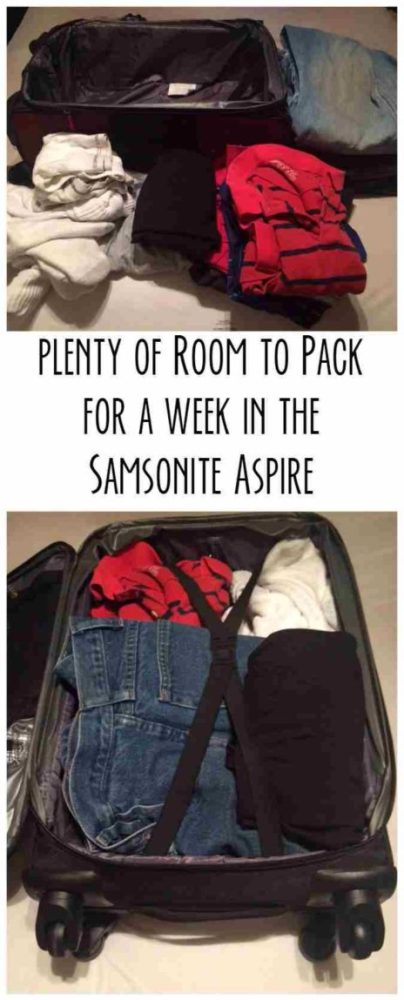 Pleanty of room to pack for a week in the Samsonite Aspire