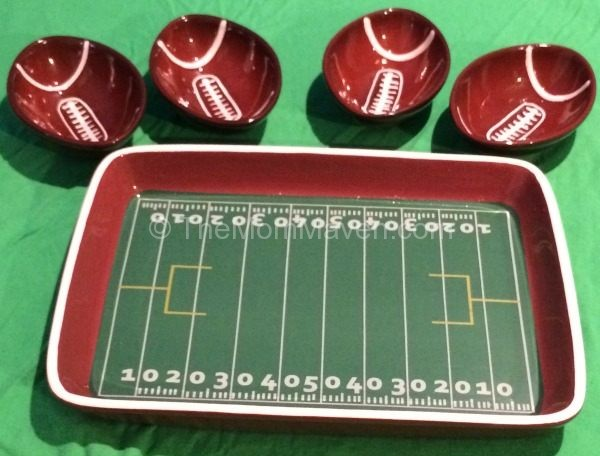 Football Tray and Bowls