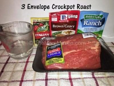 3 Envelope Crockpot Roast