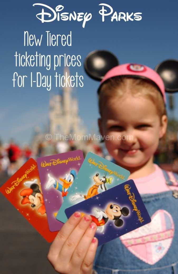 Disney Parks new tiered ticket prices