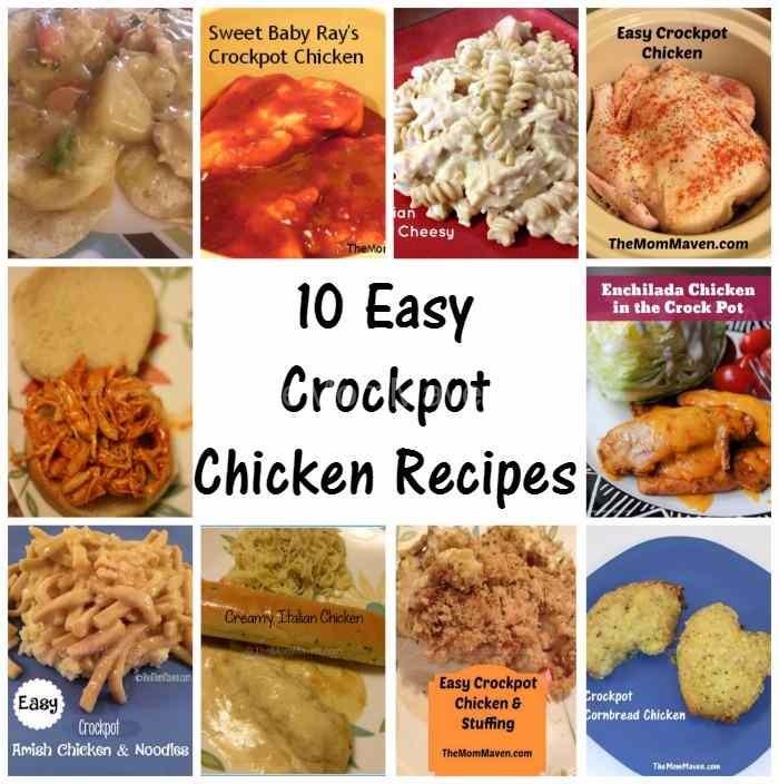 Crock Pot Chicken Recipes Easy: 10 Easy Crockpot Chicken Recipes