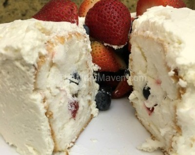 Patriotic Dessert – Fruit Tunnel Cake