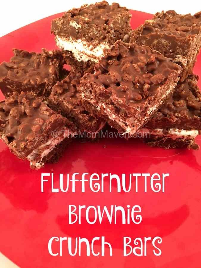 Fluffernutter Brownie Crunch Bars recipe