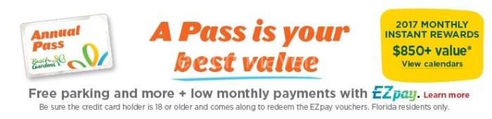 Busch Gardens Annual Pass 3 months free