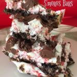 These Candy Cane S'mores Bars taste like Christmas.