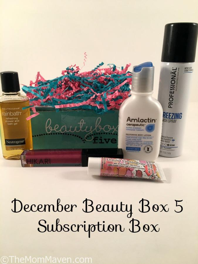 beauty box subscription december box 5 subscription box the maven 30727