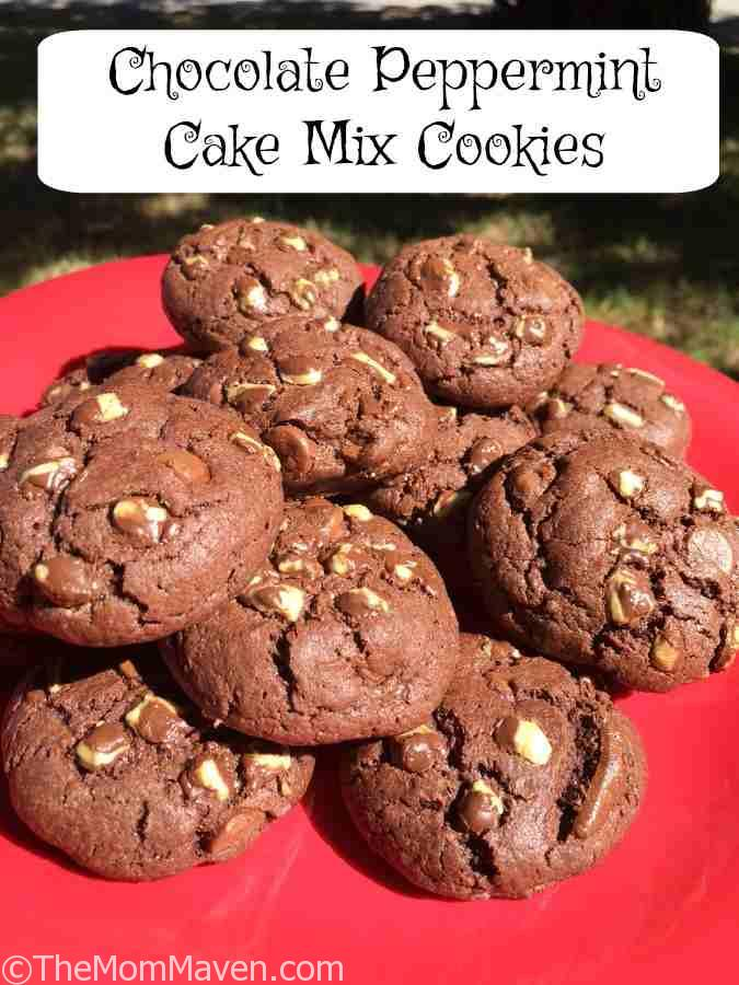My Chocolate Peppermint Cake Mix Christmas Cookies are delicious and easy to make.