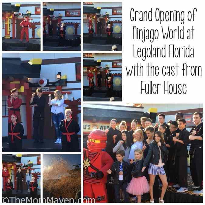 Grand opening of Ninjago World at Legoland Florida with the cast of Fuller House