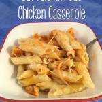 This Buffalo Alfredo Chicken Casserole recipe combines two great flavors into one delicious, easy meal.