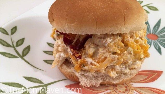 Flavorful Cheddar Bacon Ranch Chicken Salad starts in your Crockpot