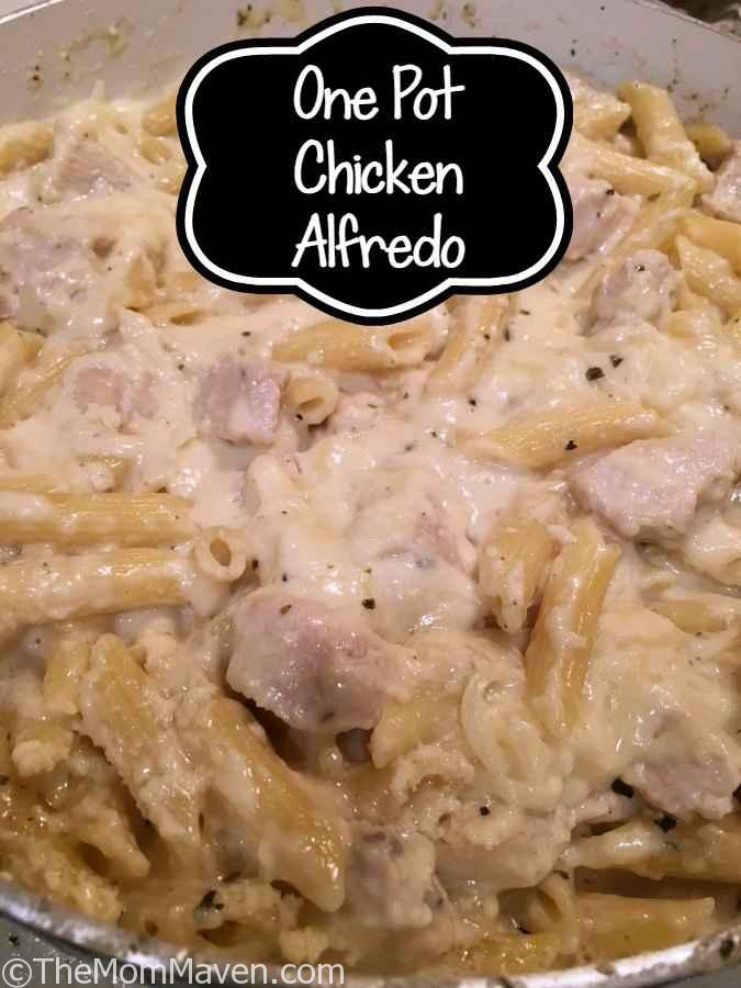 This one pot Chicken Alfredo recipe is delicious and fairly easy to make.