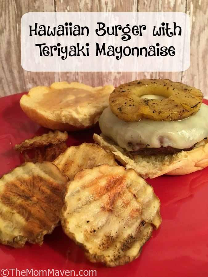 My Hawaiian Burger with Teriyaki Mayonnaise will add some flavor to your summer barbecue.