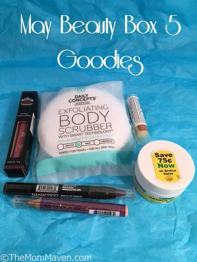 The May Beauty Box 5 shipment has a retail value of over $51 for as little as a $12 subscription fee. Beauty Box 5 is a great value for the woman who likes to try new beauty products each month.