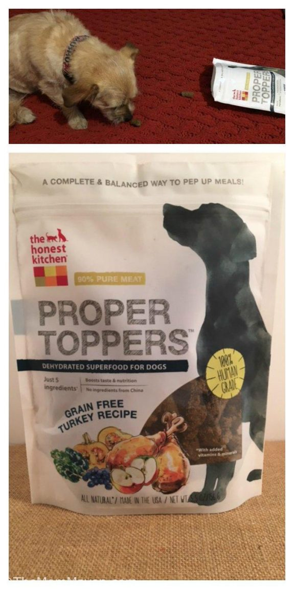 The Honest Kitchen Proper Toppers Grain-Free Turkey Recipe Dog Food Topper contains irresistible, light and crispy superfood clusters.