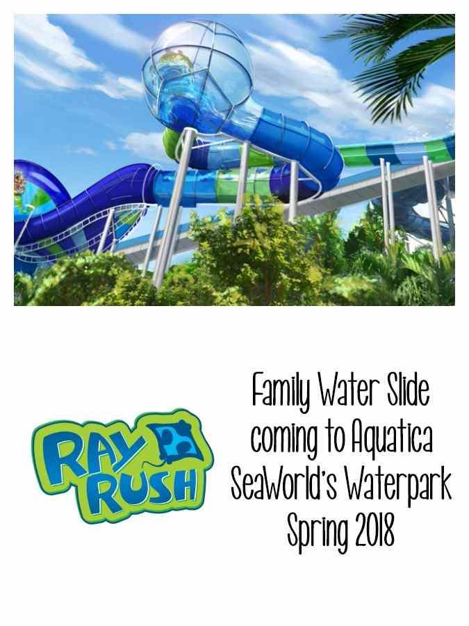 At nearly 60 feet tall, Ray Rush at Aquatica is where family and friends can take on three exciting thrills as they slide, splash and soar like never before.