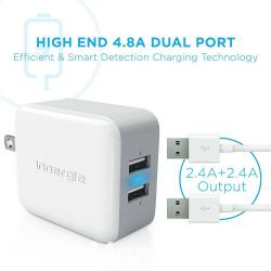 PowerJoy Pro 24 is Always Ready to Hit The Road! This dual-port 2.4A USB wall charger handles any power supply between 100-240 AC. Enjoy lightning fast charging performance everywhere you go, as long as there is a socket available and this clever wall charger!