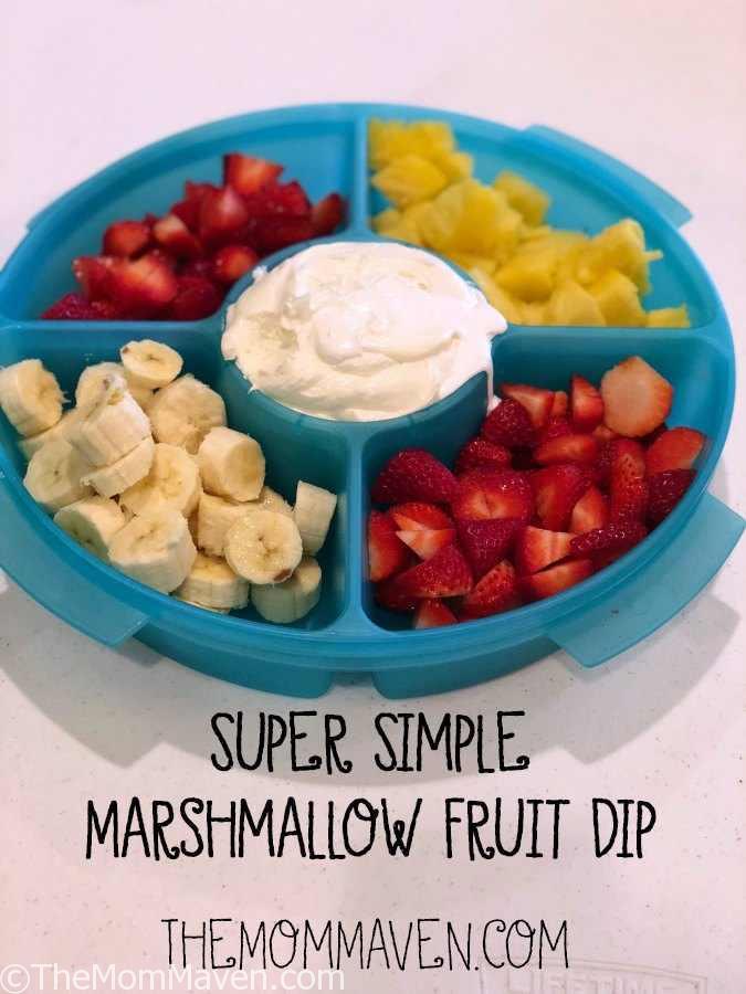 Super Simple Marshmallow Fruit Dip Recipe #recipe #marshamallowfluff #fruitdip