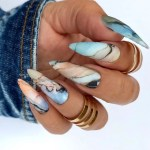 21 Mesmerizing Marble Nail Design For All Nail Shapes