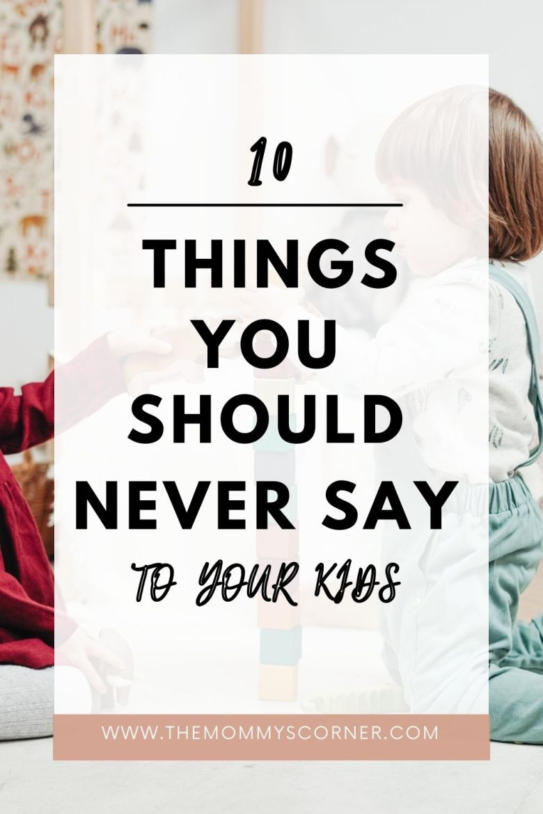 things not to say to kids