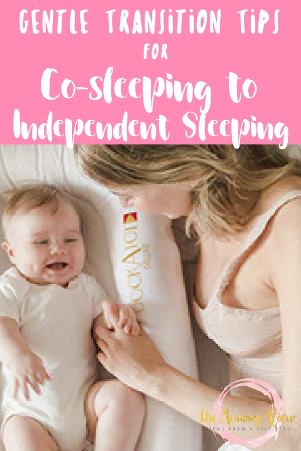 Tips for making the transition from co-sleeping to toddler bed. 10 gentle tips and a really useful product to make it easier.
