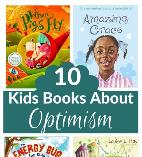 books about optimism collage pin