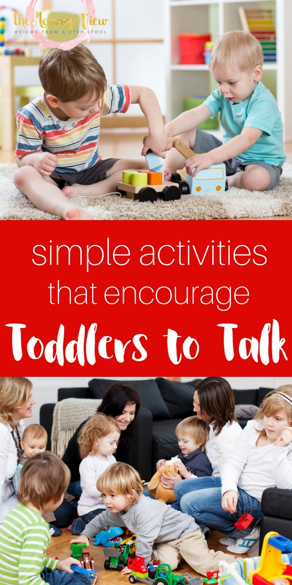 While some toddlers talk earlier than others, there are ways you can work to help toddlers talk. Here are some simple activities.