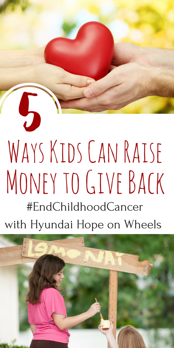 The Hyundai Hope on Wheels foundation raises money to end childhood cancer. Here are 5 ways kids can give back to help this cause.
