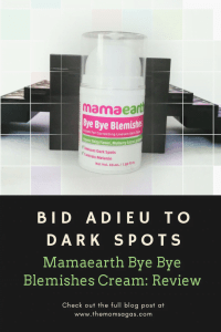 No more dark spots - Mamaearth Bye Bye Blemishes Cream Review