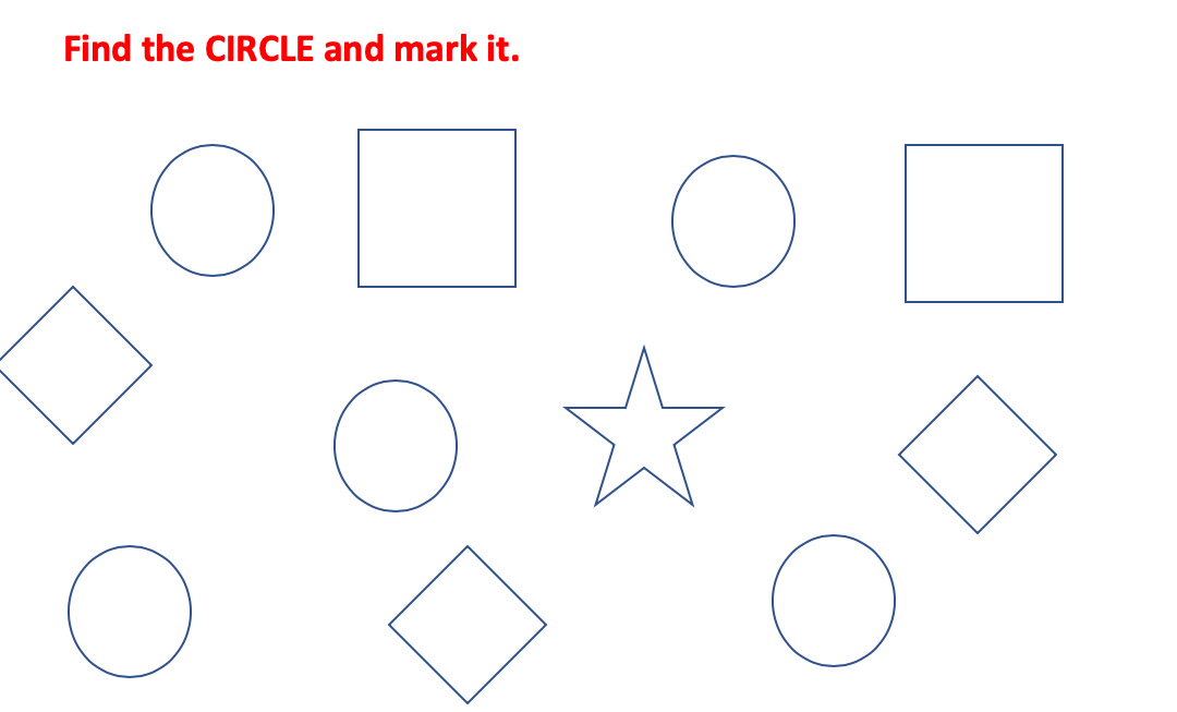 Find and mark the correct shapes