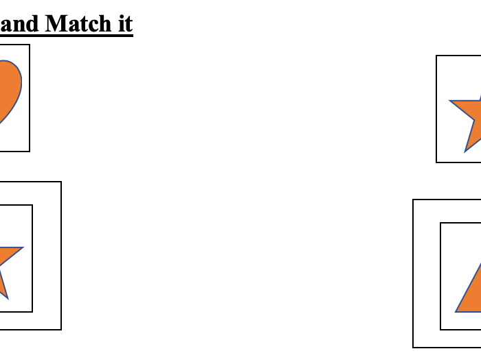 Trace and Match it- Printable for Toddlers and Preschoolers