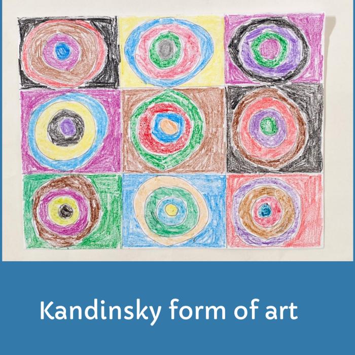 Kandinsky form of Art- Art For Kids And Elders