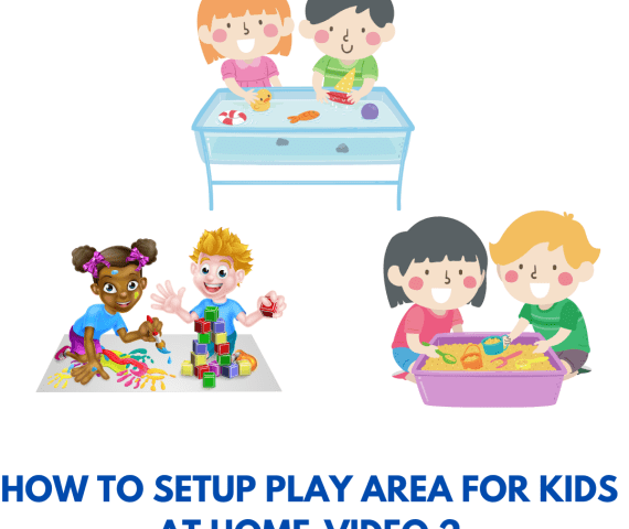Playarea setup for toddlers-1 year old