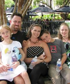 (from left to right) Andy & Kristi Corley, with Kaitlyn, Drew and Alex