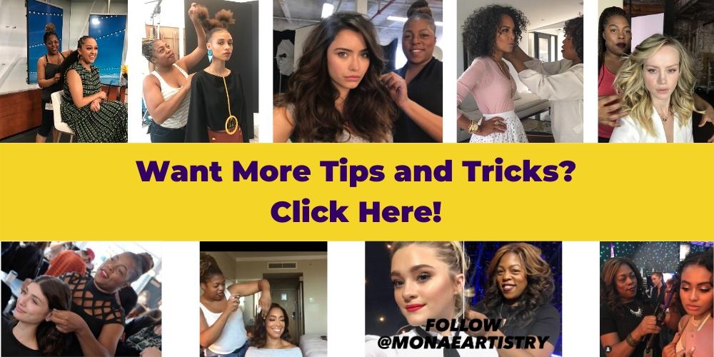 Monae Everett hairstylist infographics