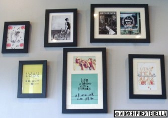 Inspirational quotes on the wall.