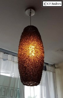 Loved the motif on this lamp; it looked like noodles up close.