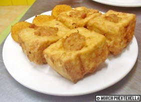 Fried Stuffed Tofu (P50 / 2 pieces): The tofu was rather bland, but the stuffing saved it.