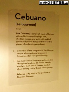 Defining the Cebuano sandwich, and a lot more.